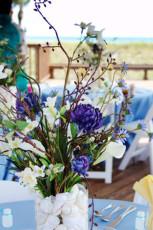 Lilac Beach Wedding Centerpiece