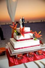 Unique Beach Wedding Cake Idea