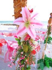 Tropical Flower Beach Wedding Decor