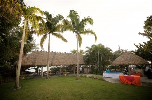 Tiki hut style wedding reception venue in Sarasota Florida