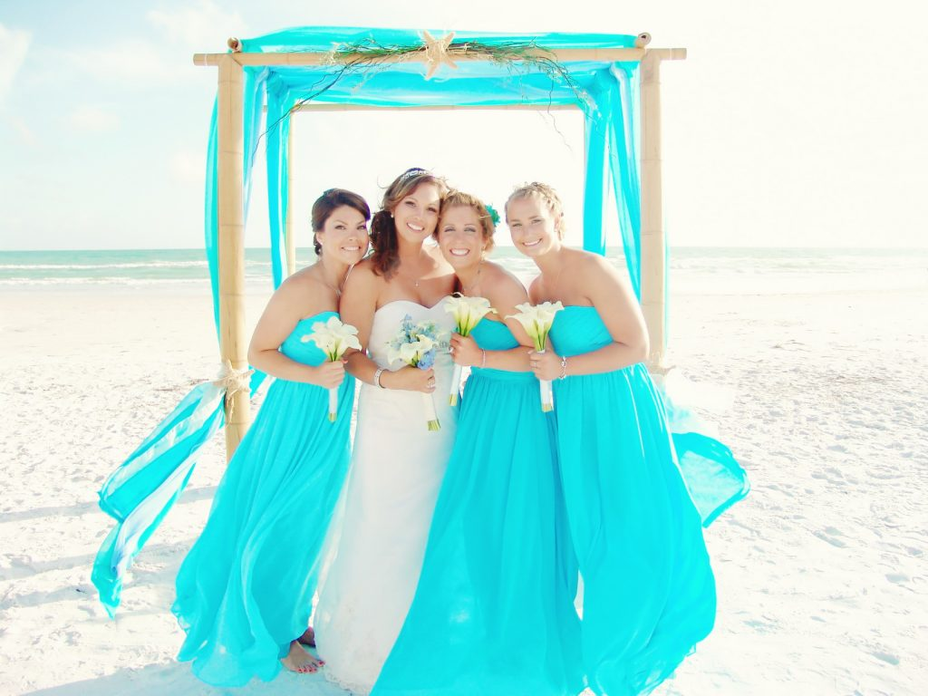 King neptune for Turquoise bridesmaid dresses for beach wedding