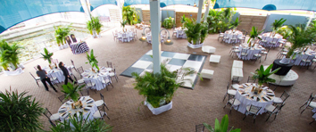 Florida Destination Beach and Aquarium Wedding Reception