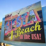 sign designated Siesta beach as the number 1 in the country