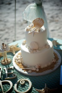 beach wedding cake 1
