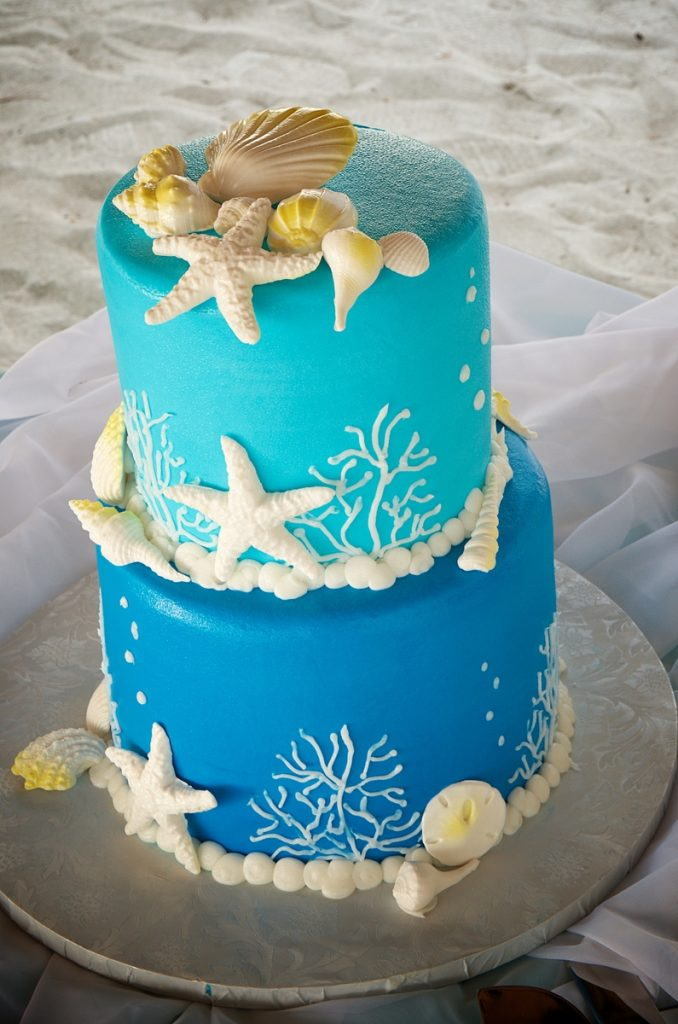 pictures of beach wedding cakes wedding cakes 18387