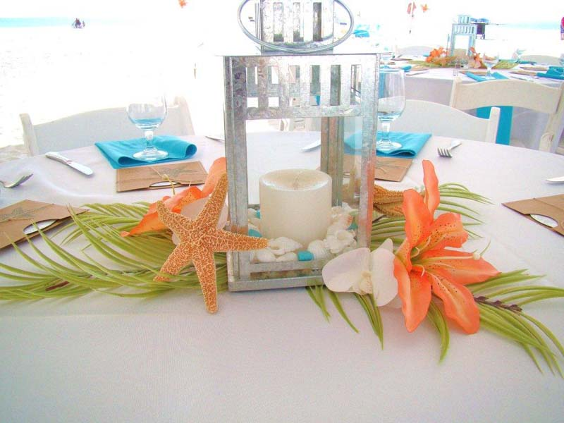 how to make fake coral centerpieces