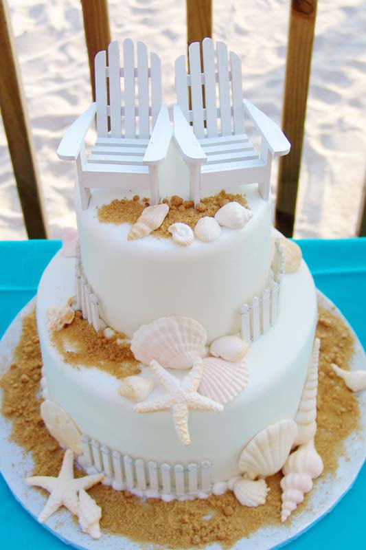 beach wedding cakes. Black Bedroom Furniture Sets. Home Design Ideas
