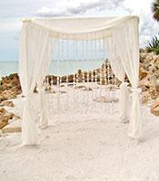 Elegant White Canopy Capiz Curtains