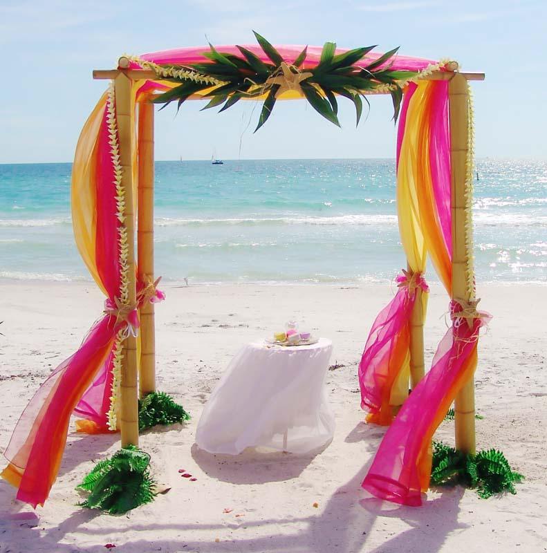 Hawaiian Wedding Reception Ideas: Tropical Palms & Starfish Collection