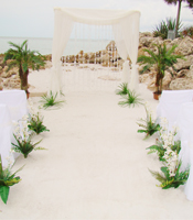 Burlap Bling wedding canopy at a destination beach wedding in Sarasota Florida
