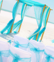 Island Bombay wedding canopy at a destination beach wedding in Sarasota Florida