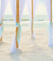 Jasmine Garden wedding canopy at a destination beach wedding in Anna Maria Island Florida