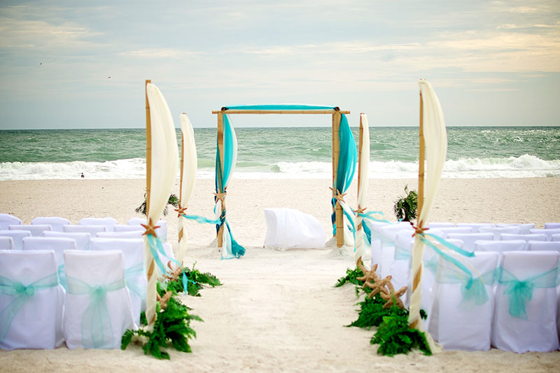 Beach Wedding Ceremony: King Neptune