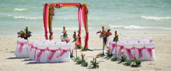 FL beach wedding