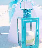 Lantern Caribbean Blue