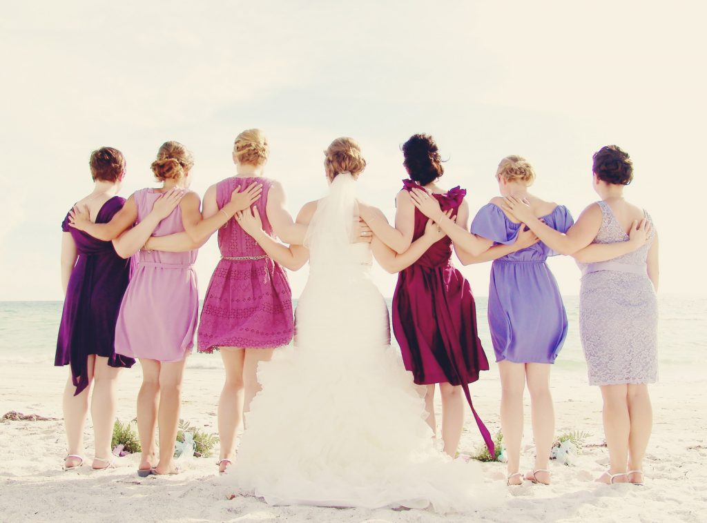 Purple & Lavender Beach Wedding