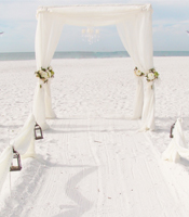 Magnolia Garden wedding canopy at a destination beach wedding in Sarasota Florida