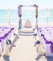 Ocean Breeze wedding canopy at a destination beach wedding in Sarasota Florida