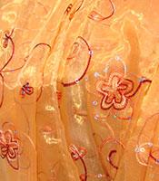 Orange Bollywood Fabric