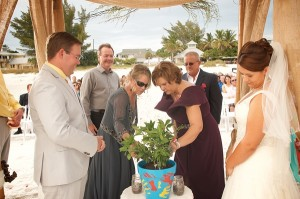 Florida beach potting ceremony
