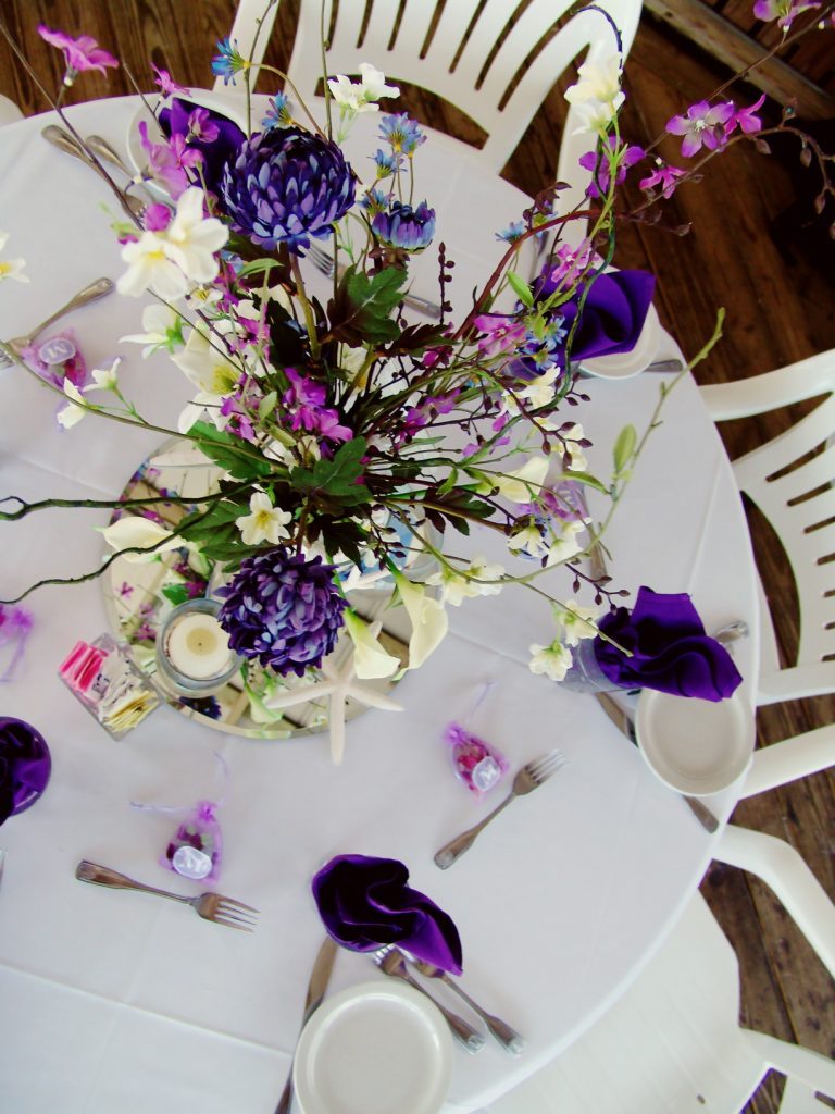 Purple Amp Lavender Beach Wedding