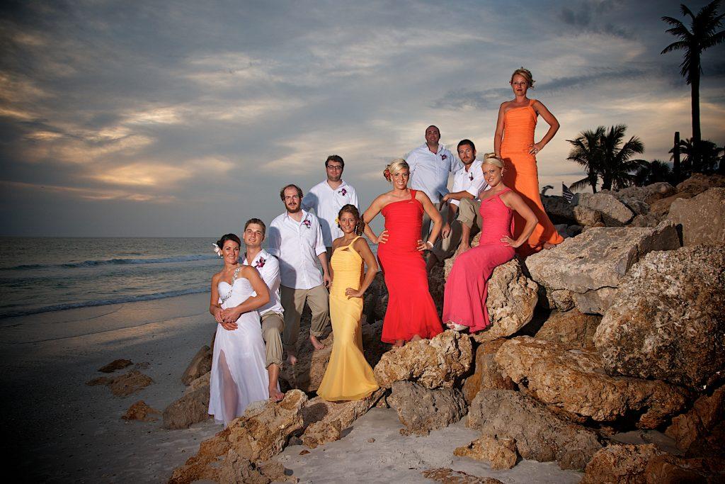 Florida Beach Wedding With Aquarium Reception: Aquarium Reception