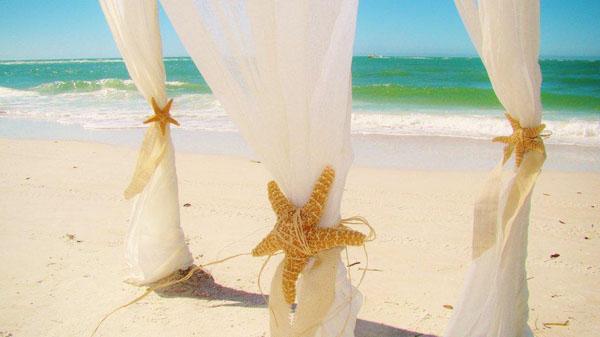 ... tie backs on a wedding canopy during a destination beach wedding in Sarasota Florida ... & Sand Petal Weddings | All-Inclusive Florida Destination Beach Weddings