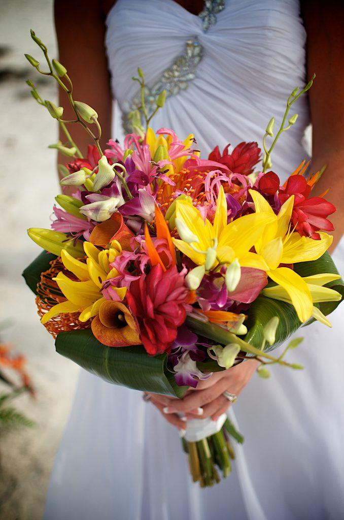 Tropical Beach Wedding Flowers Sand Petal Weddings