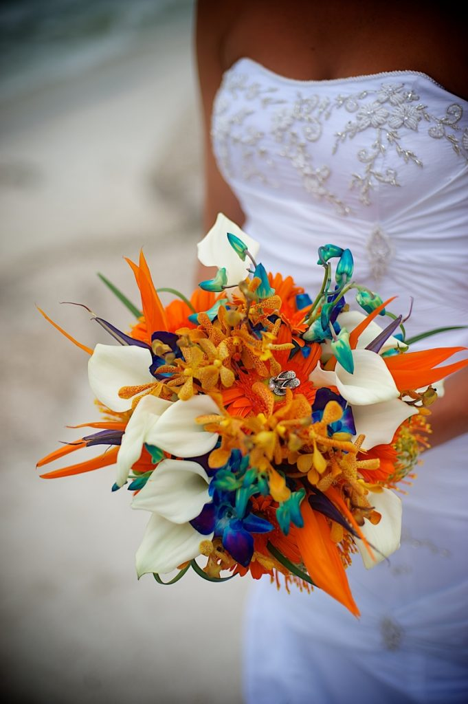 Tropical Beach Wedding Flowers