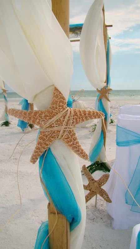 tropical sea wedding - beach wedding sarasota