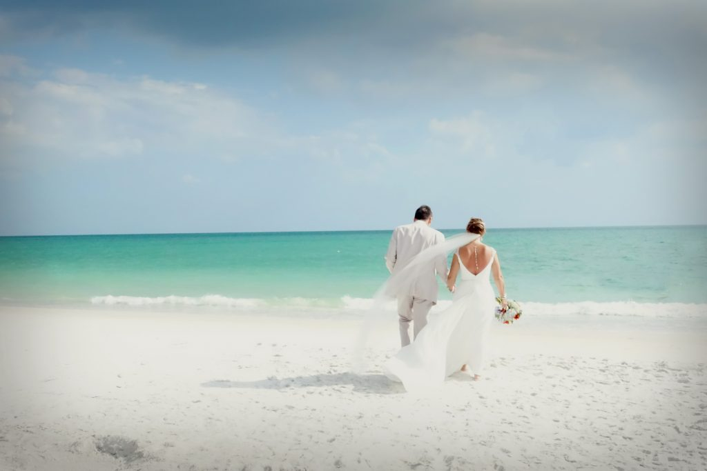 budget beach ceremony and reception