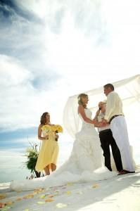 yellow beach wedding 1