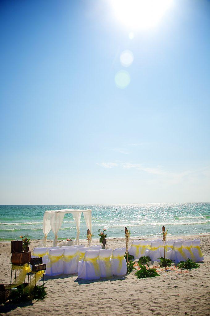 yellow beach wedding 2 2 - wedding beach attire for groom