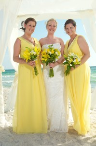 yellow beach wedding 5