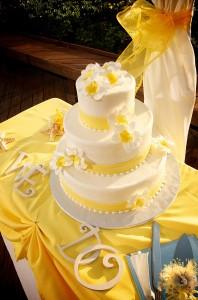 yellow beach wedding 7