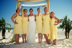 yellow becah wedding 13